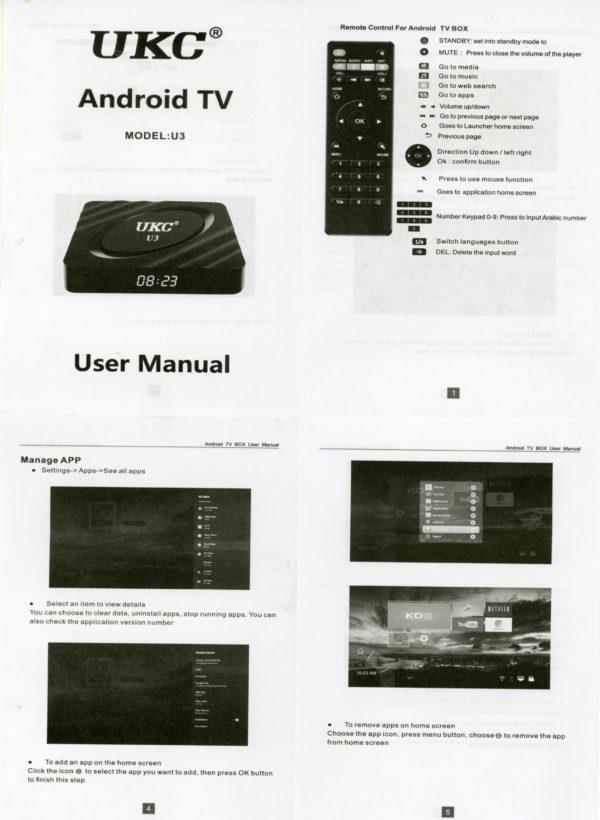 Smart tv box UKC U3