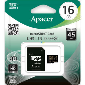 Карта памяти microSDHC Apacer 16Gb