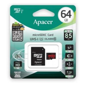 Карта памяти microSDXC Apacer 64Gb