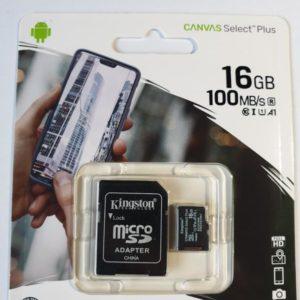 Карта памяти microSD Kingston 16Gb