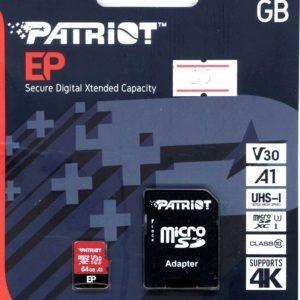 Карта памяти microSDXC Patriot 64Gb