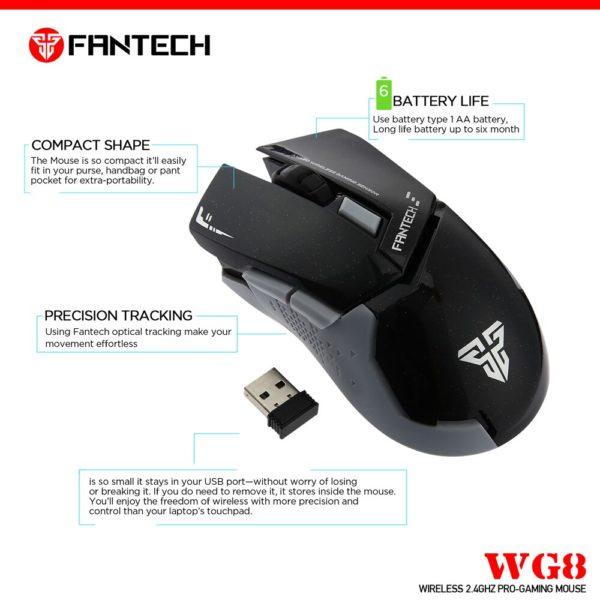 Мышь Fantech Leblanc WG8
